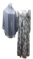 Baju Muslim Set Syari Silver