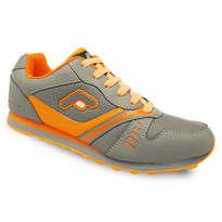 Sepatu Olahraga Lari Abu-abu Orange Fans Castelo O