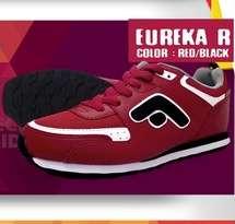 Sepatu Olahraga Lari Merah Wanita Fans Eureka R