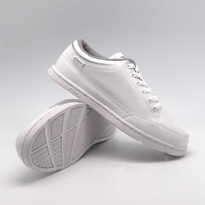 Sepatu Kasual Pria Wanita Putih Polos Fans Mulo W