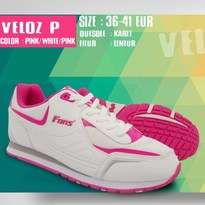 Sepatu Olahraga Lari Wanita Putih Pink Fans Veloz P