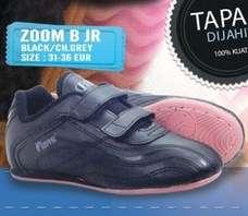 Sepatu Olahraga Sekolah Anak Hitam Polos ZOom B JR