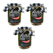 ChiliBandit - Sambal Embe khas Bali - Isi 3 Jar