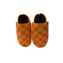 Sepatu Bayi Orange Garis