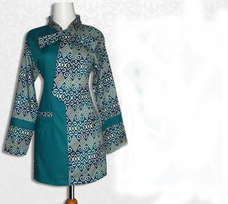 Baju Batik Kerja Wanita Golden Jaya