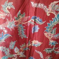 Batik Tulis Merah Motif Daun