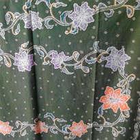 Batik Tulis Hijau Motif Kangkung