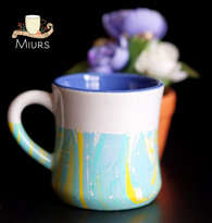 Blue Yellow Marble Mug