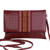 Meru Clutch Ulos - Maroon - MR102