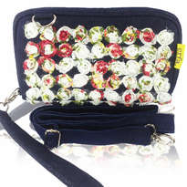 Tas Selempang Etnik Erfa Hand Pouch Organizer Beauty Roses