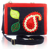 Tas Etnik Organizer Note 10 inchi Erfa Handmade Red Parsley