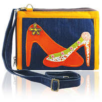 Tas Etnik Organizer note 10 inchi Erfa Handmade orange shoes