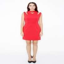 kim. Angelica Chocker Hole Dress