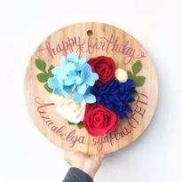 Bunga Flanel Happy Birthday
