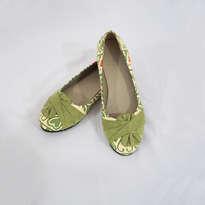 Sepatu Batik Hijau Suede