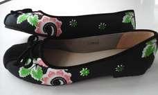 Sepatu Batik Dark Green