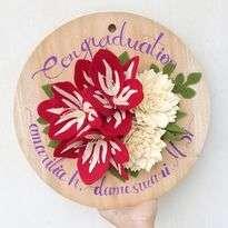 Bunga Flanel Red Amarilys and Vanilla Chrysanthemum Flower Disc