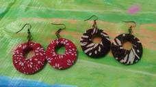 Anting Batik Merah & Anting Batik Coklat