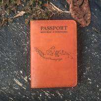 Passport Case Leather Vegtan Gambar Pulau