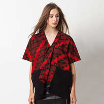 Alicia Parang Blouse - Red