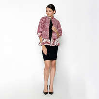 Alliya Furing Jacket - Red