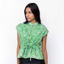 Zipper Blouse Megamendung - Green