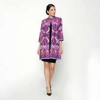 Coat Panjang Troso - Purple