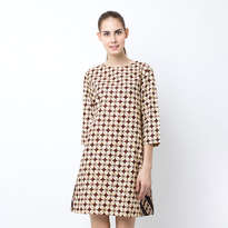 Dress Tunik Kawung PR - Beige