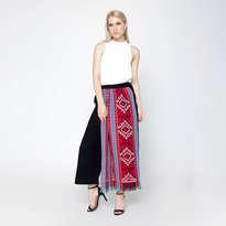 Geeta Cullotes Pants - Redblue