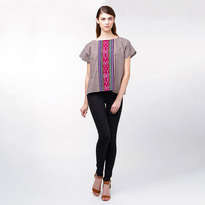 Jamila Square Top - Brown
