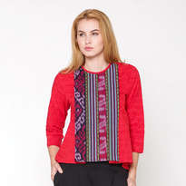 Khaira Tenun Blouse - Red