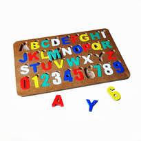 Puzzle Angka dan Huruf Alphabet