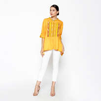 Tiara Duo Blouse - Yellow