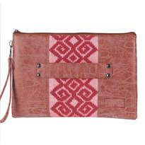 Clutch Pouch Meru Style Tenun Toraja Pink MR042