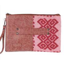 Clutch Pouch Meru Style Tenun Toraja Pink MR043