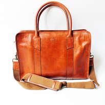 Holarocka Paulo 02 leather briefcase