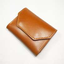 Dompet Kartu Kulit Asli Sapi Unik Dan Simpel Warna Tan (Dompet Kulit)