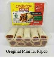 Kebab Frozen HALAL LP-POM MUI NO. 03010017410617 By. Champion Kebab Original Mini Isi 10pcs