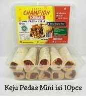 Kebab Frozen HALAL LP-POM MUI NO. 03010017410617 By. Champion Kebab Keju Pedas Mini Isi 10pcs