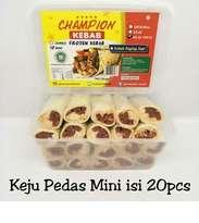Kebab Frozen HALAL LP-POM MUI NO. 03010017410617 By. Champion Kebab Keju Pedas Mini Isi 20pcs
