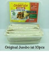 Kebab Frozen HALAL LP-POM MUI NO. 03010017410617 By. Champion Kebab Original Jumbo isi 10pcs
