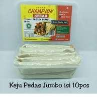 Kebab Frozen HALAL LP-POM MUI NO. 03010017410617 By. Champion Kebab Keju Pedas Jumbo isi 10pcs