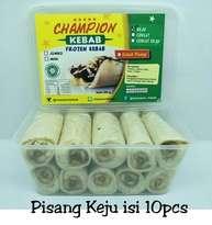 Kebab Frozen HALAL LP-POM MUI NO. 03010017410617 By. Champion Kebab Pisang Keju Isi 10pcs