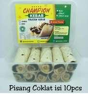 Kebab Frozen HALAL LP-POM MUI NO. 03010017410617. By Champion Kebab Pisang Coklat isi 10