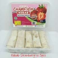 Kebab Frozen HALAL LP-POM MUI NO. 03010017410617.  By. Champion Kebab Strawberry isi 5pcs