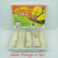 Kebab Frozen HALAL LP-POM MUI NO. 03010017410617. By Champion Kebab Mangga isi 5pcs