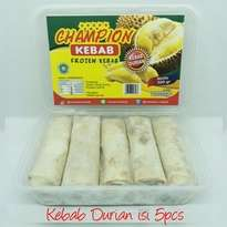 Kebab Frozen HALAL LP-POM MUI NO. 03010017410617. By. Champion Kebab Durian isi 5pcs