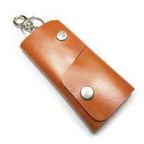 dompet stnk kulit asli sapi handmade warna coklat tan model lipat tiga