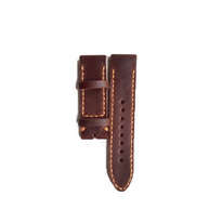 Tali Jam Tangan Kulit Asli Sapi Handmade Warna Coklat Tua Size 22 mm (Leather Strap)