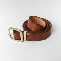 Holarocka Vegtan Leather Belt 02 - walnut ( Sabuk kulit )